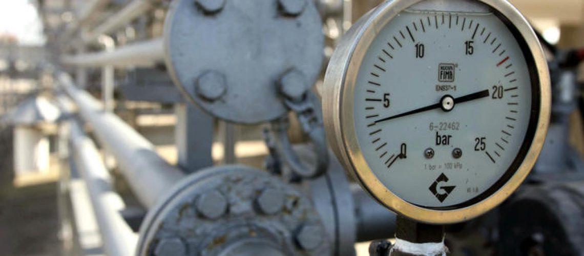 Una immagine di  archivio mostra il manometro di un impianto di gas'. FRANCO SILVI/ARCHIVIO - ANSA - KRZ