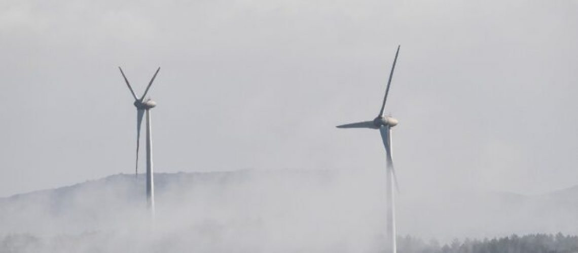 A general view shows wind turbines on June 15, 2019 near the village of Sassari in Sardinia. (Photo by Andreas SOLARO / AFP)        (Photo credit should read ANDREAS SOLARO/AFP via Getty Images)